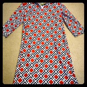 Elizabeth McKay Geo Print Shift Dress